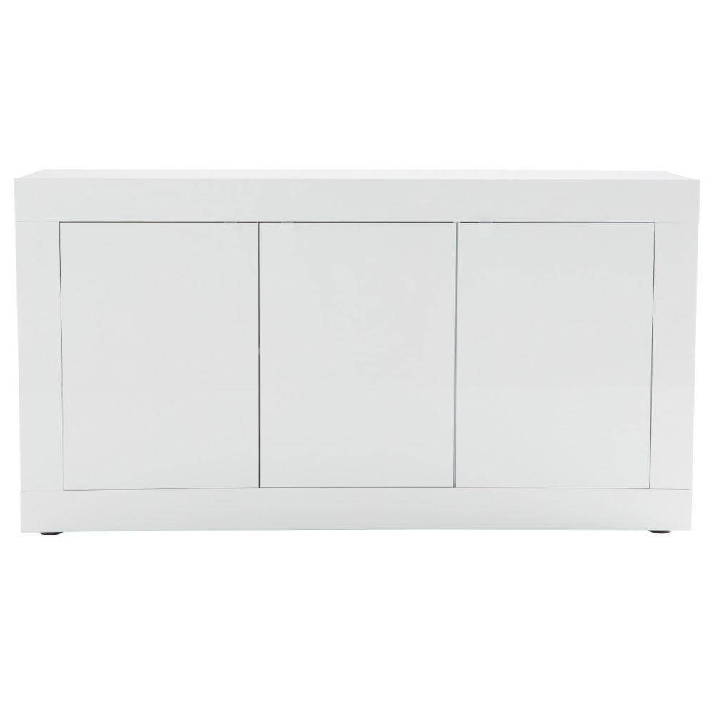 Miliboo Buffet design laqué blanc 160 cm LATTE