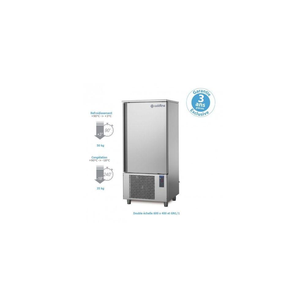 Materiel Chr Pro Cellule Mixte de Refroidissement 50/35 kg - 14 double niveaux 600 x 400 et GN 1/1 -