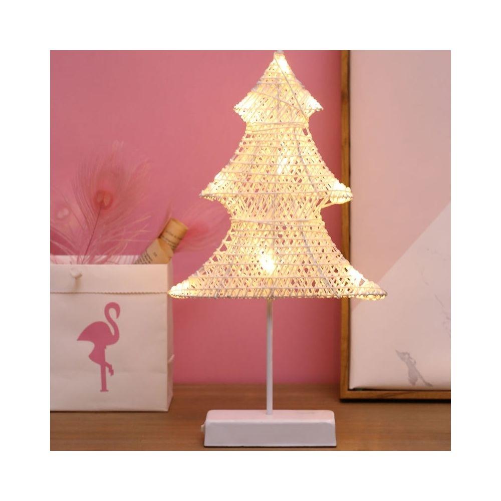 Wewoo Guirlande LED Arbre de Noël en forme rotin romantique Lumière vacances avec support, fée chaleureuse lampe décorative Ve