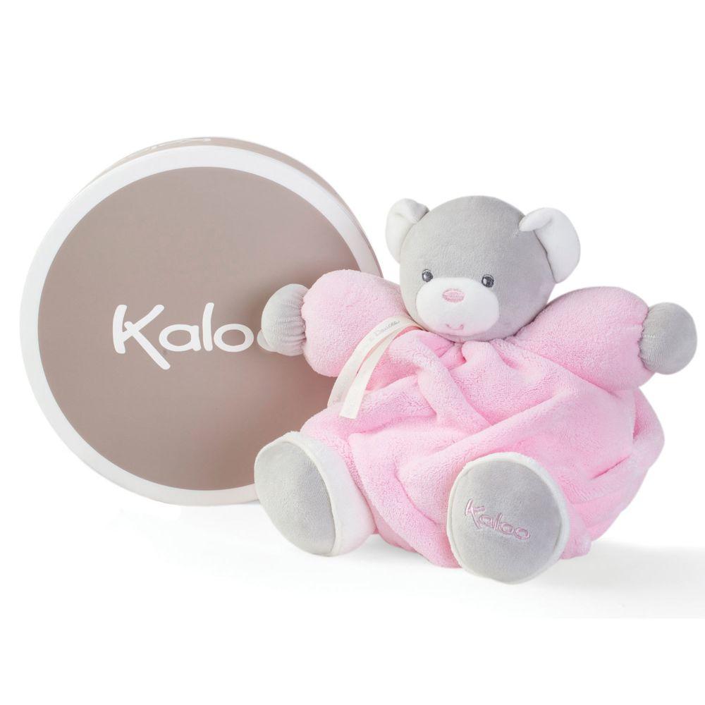 Kaloo Kaloo Plume : Patapouf ourson rose (Medium)