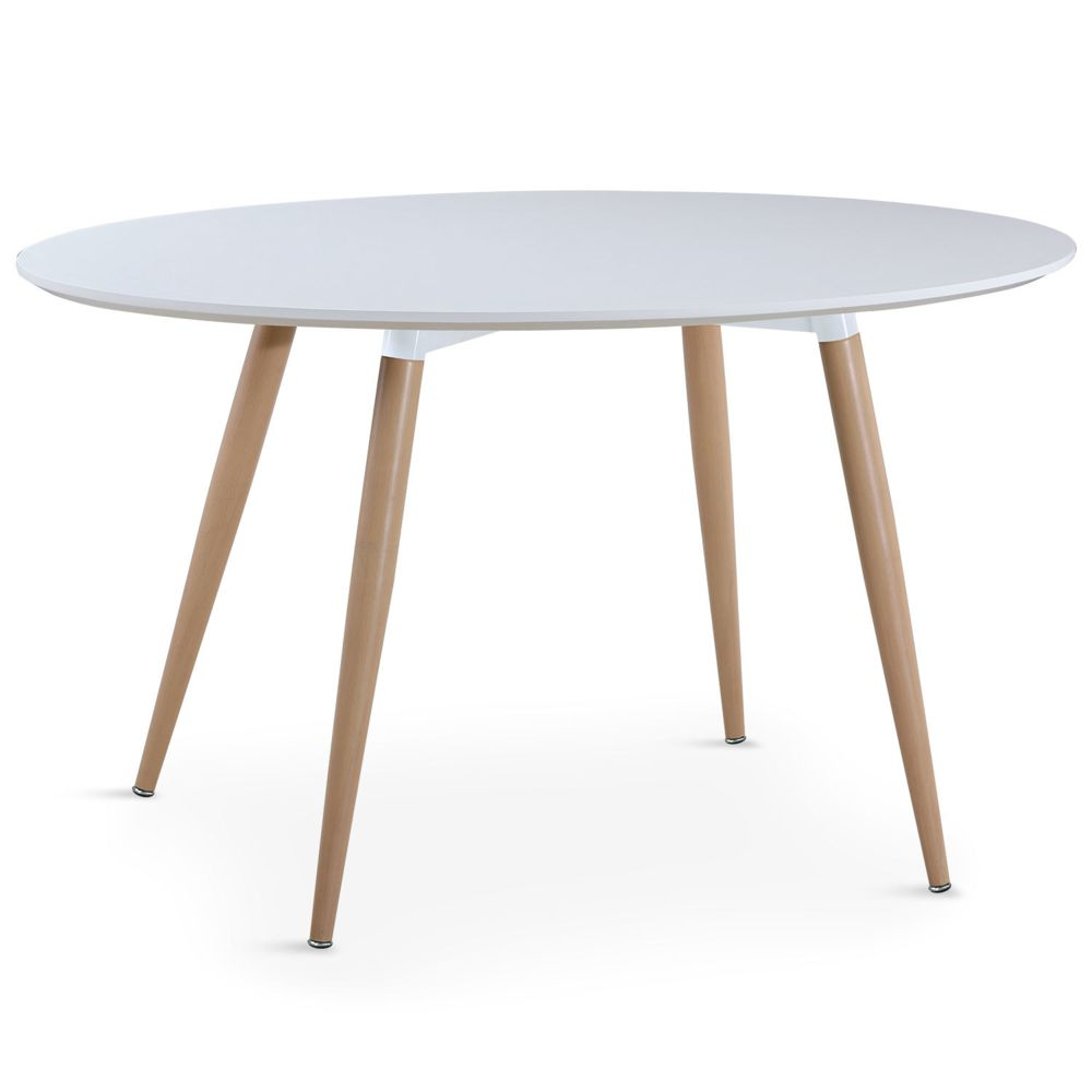 MENZZO Table ovale scandinave Sissi Blanc