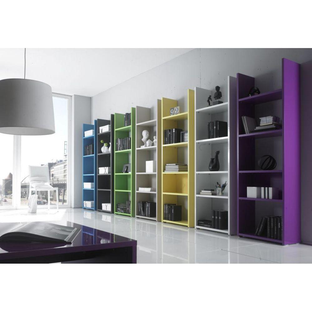 Sofamobili Etagère bibliothèque laqué design LORELIS, sept couleurs au choix