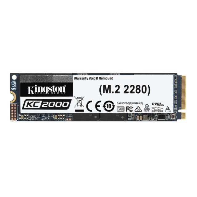SSD Interne Kingston KC2000 2 To M.2 NVMe PCIe Gen 3.0 x 4