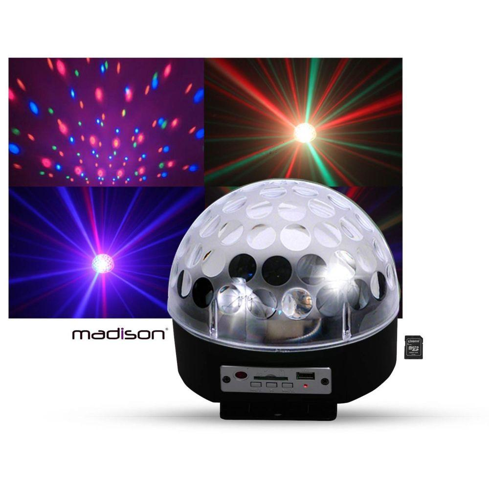 Madison Boule lumineuse LED RVB HP intégrés SD/USB