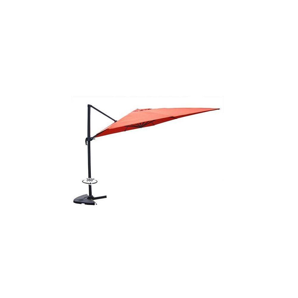 Kocoon Paris Rafaela terracotta - Parasol déporté rotatif 3x3 m