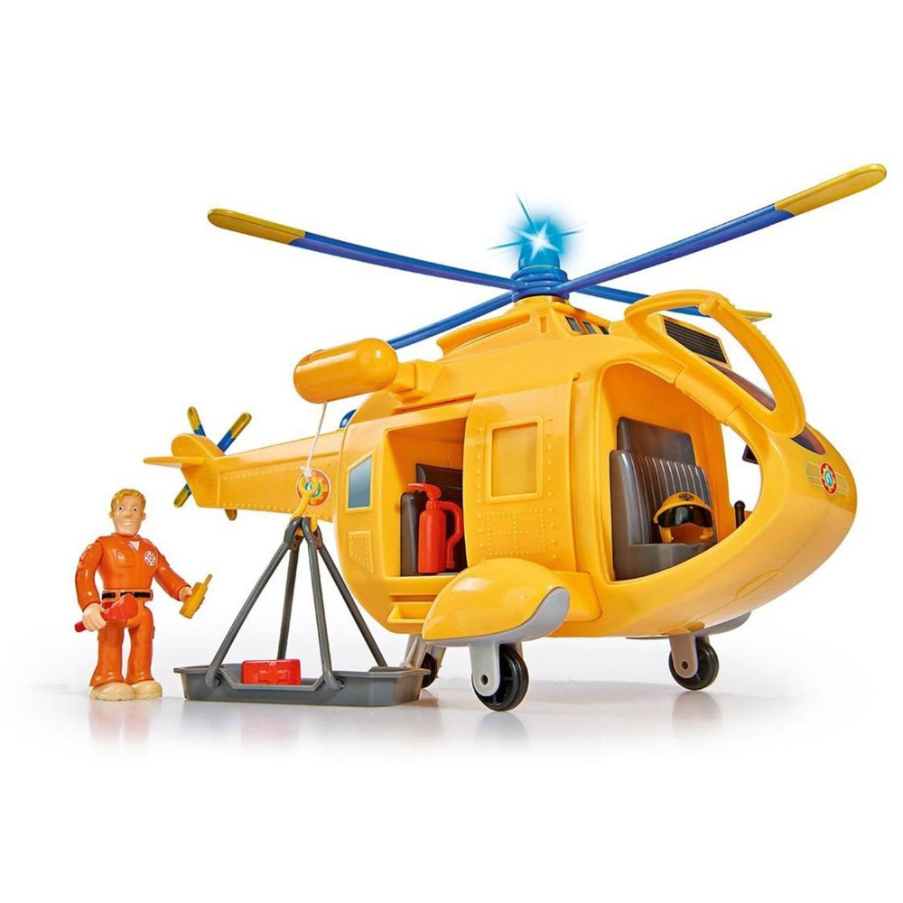 Simba Toys Simba Toys 109251002 Pompier Sam Helicopter Wallaby II avec une figure