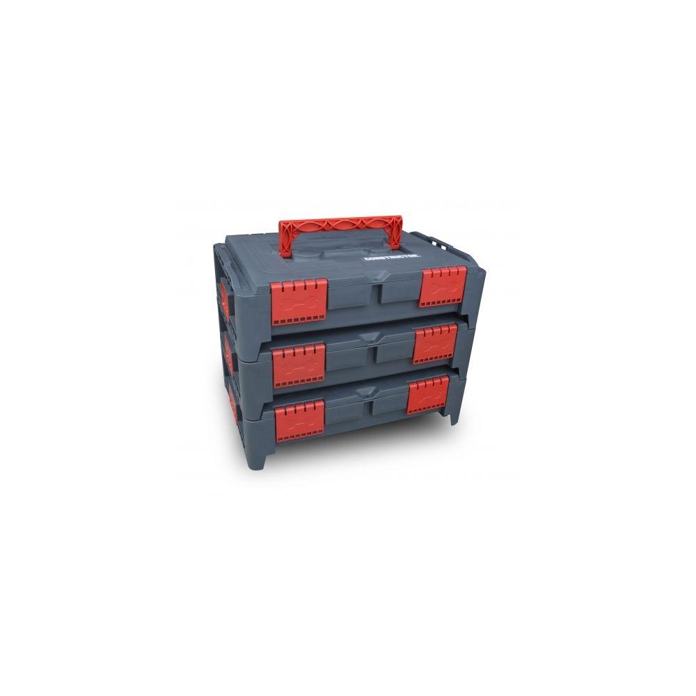 Constructor Lot de 3 coffrets empilables BEPS1 - Constructor