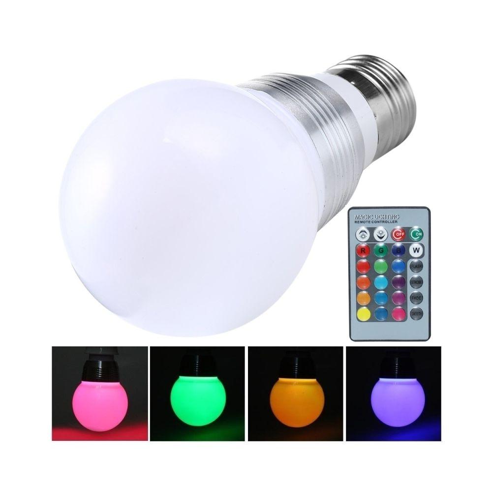Wewoo Ampoule E27 10W 800-900LM RVB LED avec télécommande, AC 85-265V