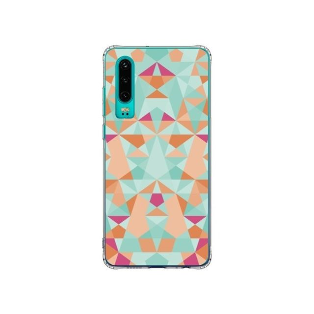 Apple - Coque Huawei P30 Azteque Vert - Leandro Pita - Accessoires pour Smartphone Huawei P30