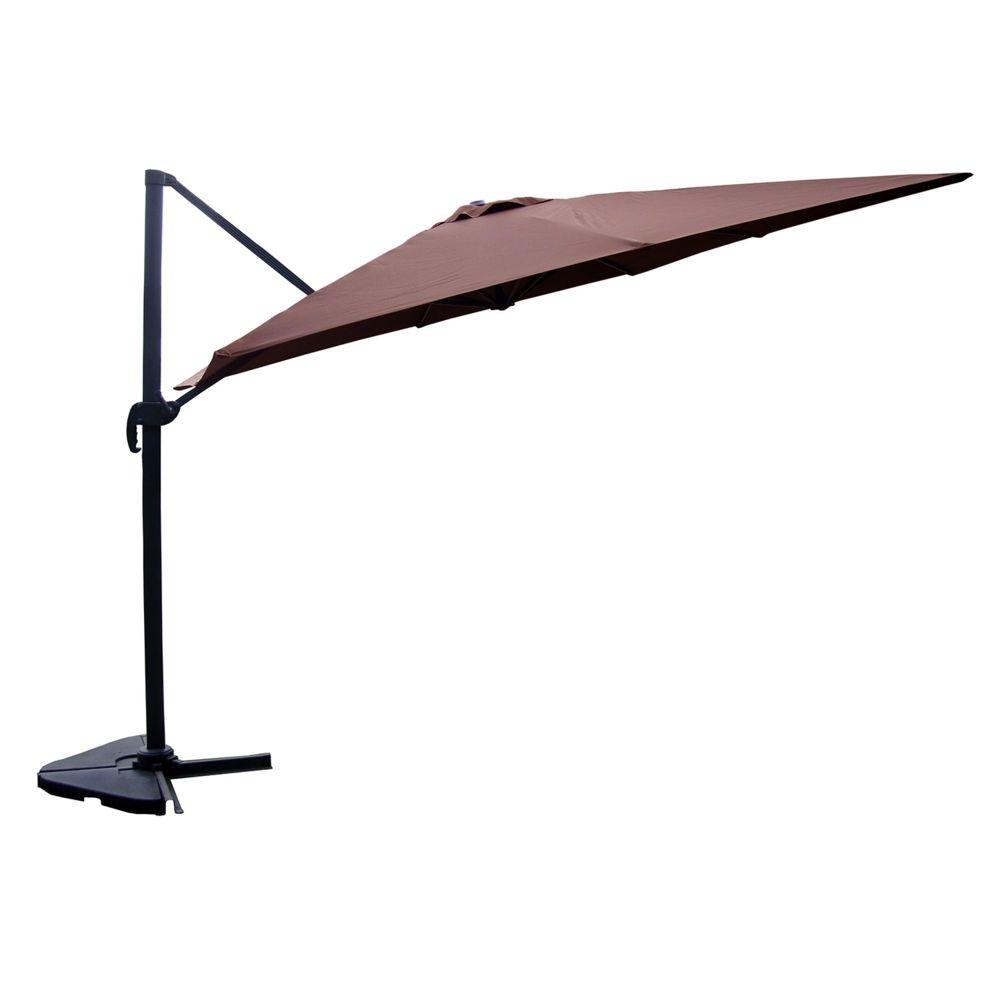 Concept Usine Cesare chocolat : Parasol déporté, rectangulaire de 3x4m , rotatif à 360°