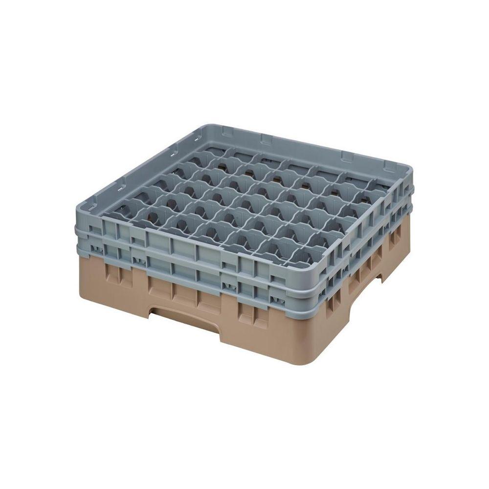 Cambro Casier à Verres 49 Compartiments Beige - Hauteur de 143 à 349 mm - Camrack Cambro - 500(L) x
