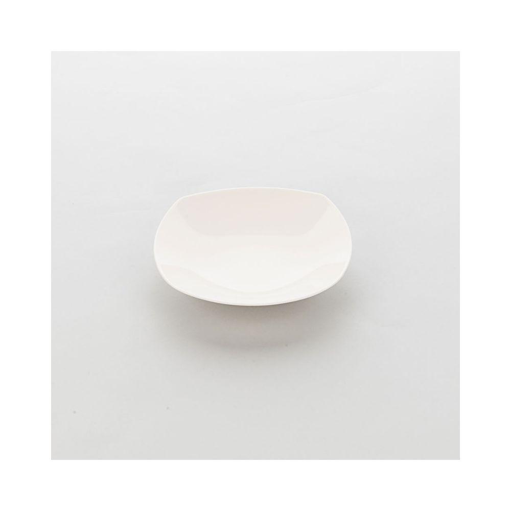 Materiel Chr Pro Assiette Creuse Carrée Porcelaine Ecru Liguria 205 x 205 mm - Lot de 6 - Stalgast - Porcelaine