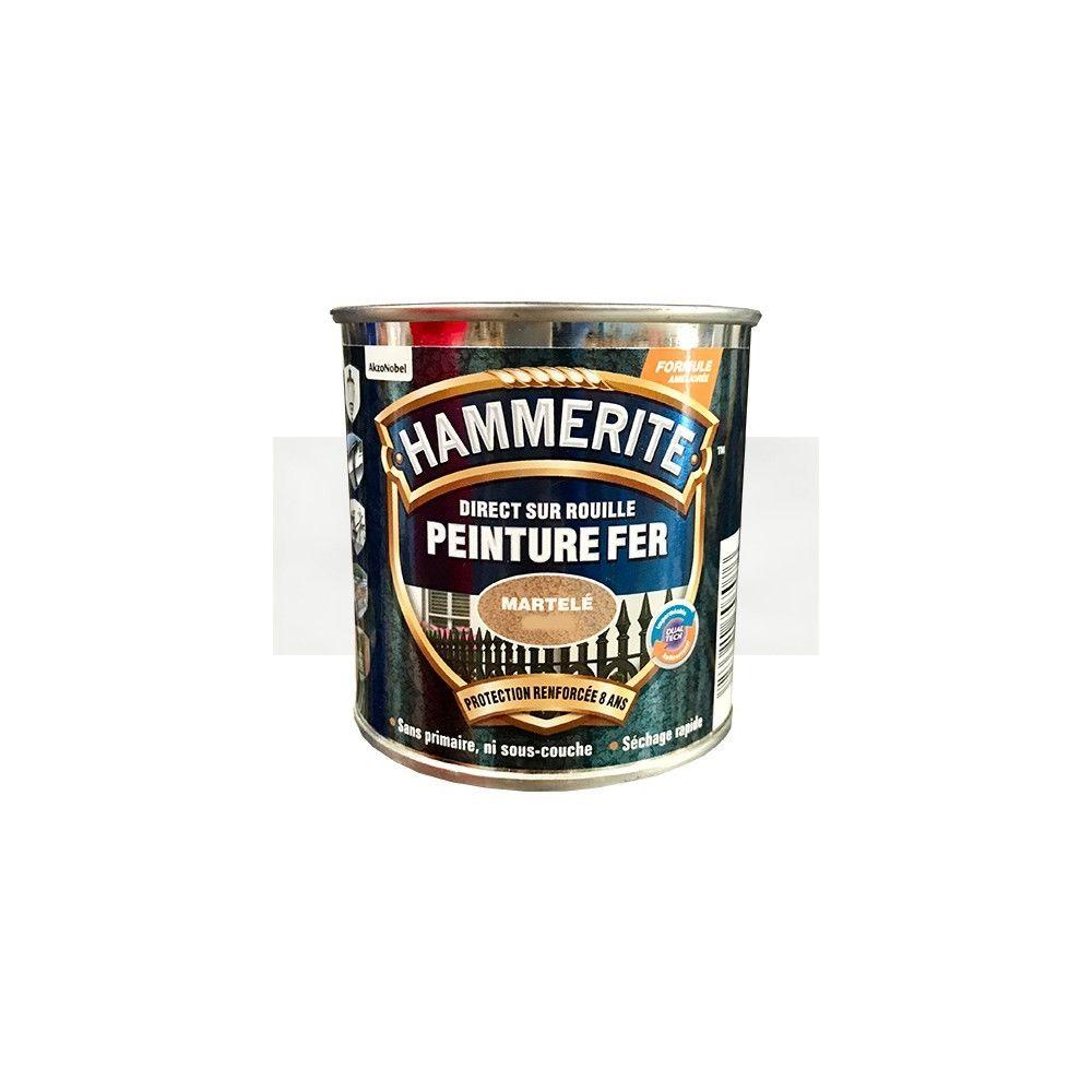 Hammerite Peinture Fer Hammerite Direct sur Rouille Blanc brume Martelé