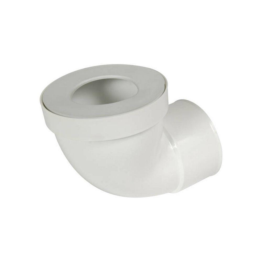 Nicoll NICOLL 1CW933F - Pipe courte de WC femelle à 90°, diamètre 100 mm, avec joint de 85 à 107 mm