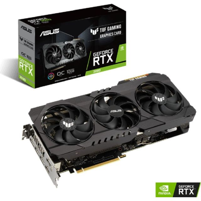 Asus - GeForce RTX 3080 OC - TUF GAMING Triple Fan - 10Go  - Occasions Carte Graphique