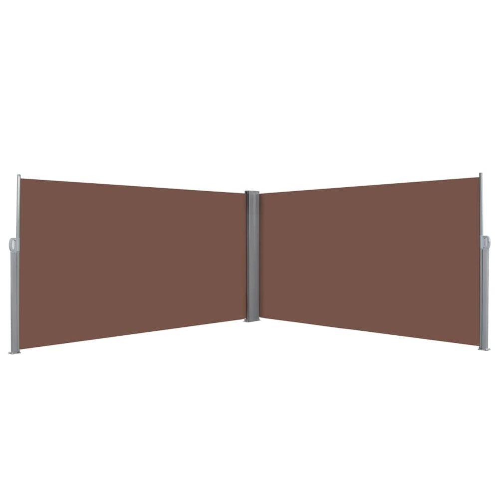 Vidaxl Auvent latéral rétractable 160 x 600 cm Marron | Brun - Pelouses et jardins - Vie en extérieur - Parasols et voiles d'om