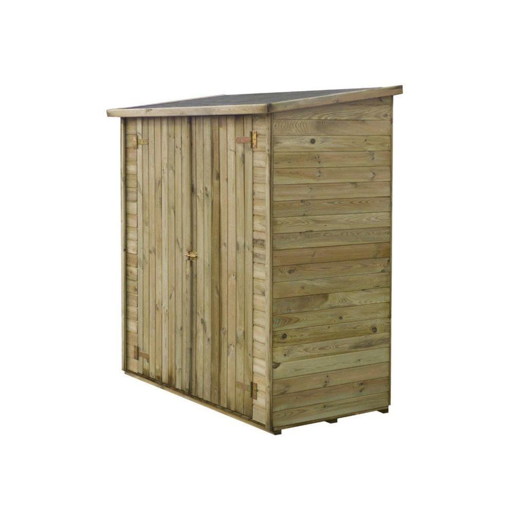 Habitat Et Jardin Abri jardin bois adossable Lipki - 1.79 x 0.90 x 1.76/1.86 m - 1.62 m² - 12 mm - Avec plancher