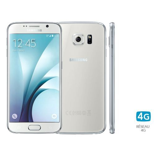 Samsung - Galaxy S6 32Go blanc - Smartphone 5 pouces