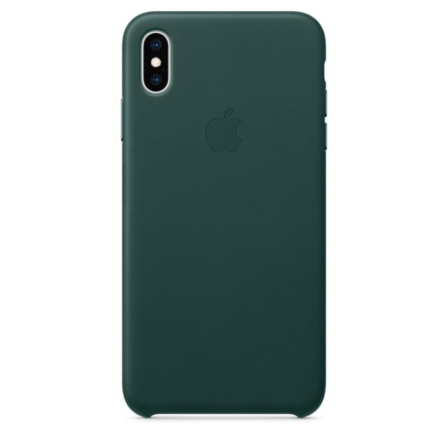 Apple - iPhone XS Max Leather Case - Vert forêt Apple   - Accessoire Smartphone Iphone xs max