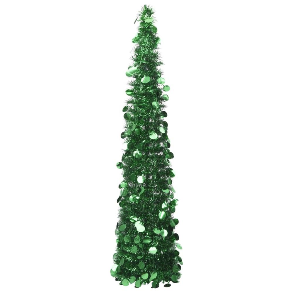 Vidaxl vidaXL Sapin de Noël artificiel escamotable Vert 150 cm PET