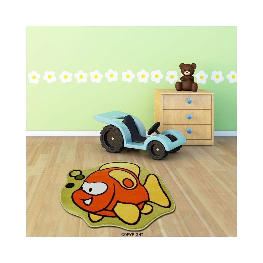 Mondialtapis POISSON CLOWN chambre enfant par Mondial Tapis ' 100 x 100 cm ' - Couleur - Multicolor, Taille - 100 / 100 cm