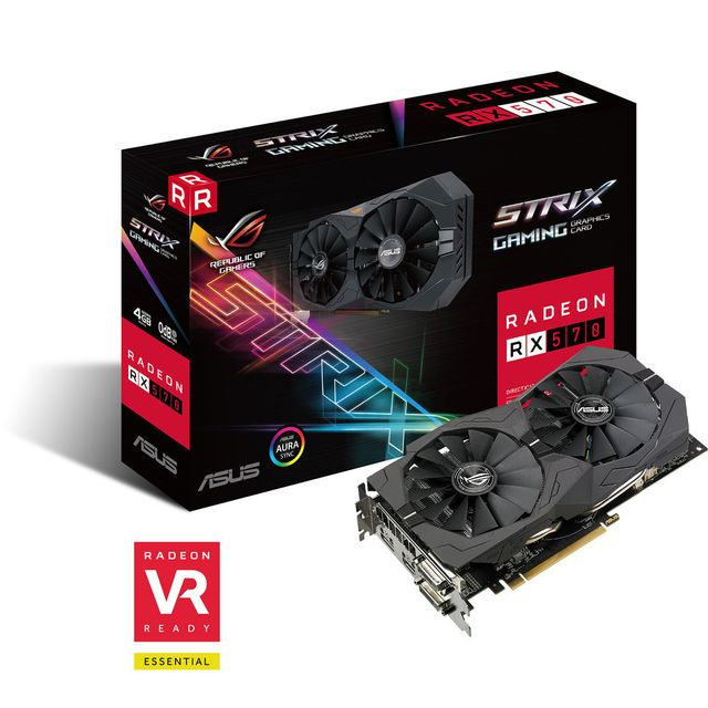 Asus - Radeon RX 570 - ROG STRIX - Carte Graphique AMD