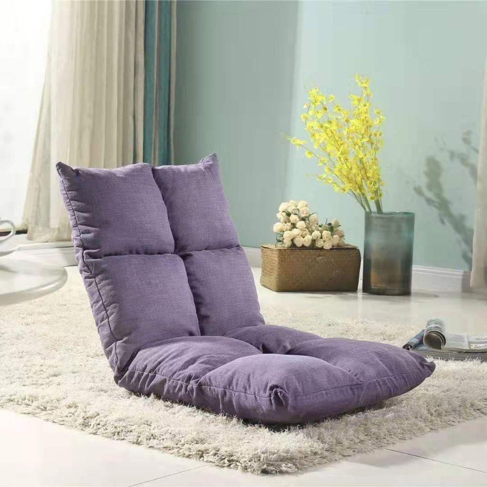 Wewoo - Fauteuil Canapé chaise tatami coussins de sol lit pliant Deark  Violet