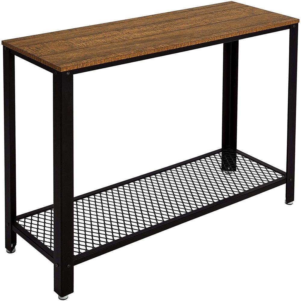 Meerveil Table de Console Table d?entrée Bout de Canapé Table Café, Style Vintage Industriel, pour Salon, Entrée, Chambre - Meerv