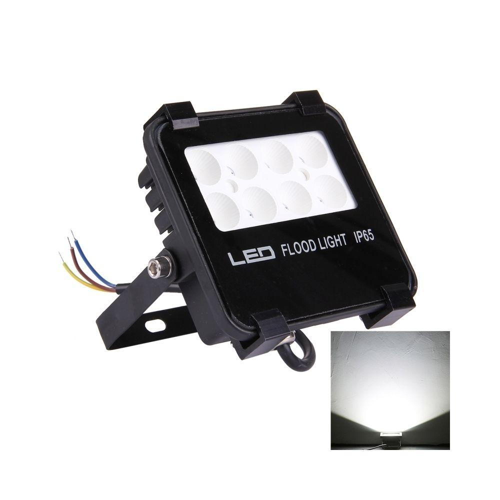 Wewoo Projecteur LED 10W 1200LM IP65 étanche 8 SMD-3528 lampe de projecteur, AC 85-265V lumière blanche