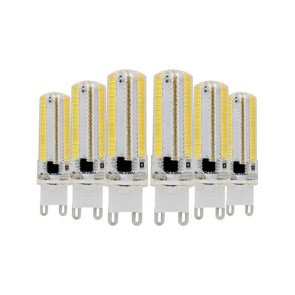 Wewoo Ampoule LED SMD 3014 6PCS G9 7W CA 220-240V 152LEDs SMD 3014 lampe à économie d'énergie en silicone (blanc chaud)
