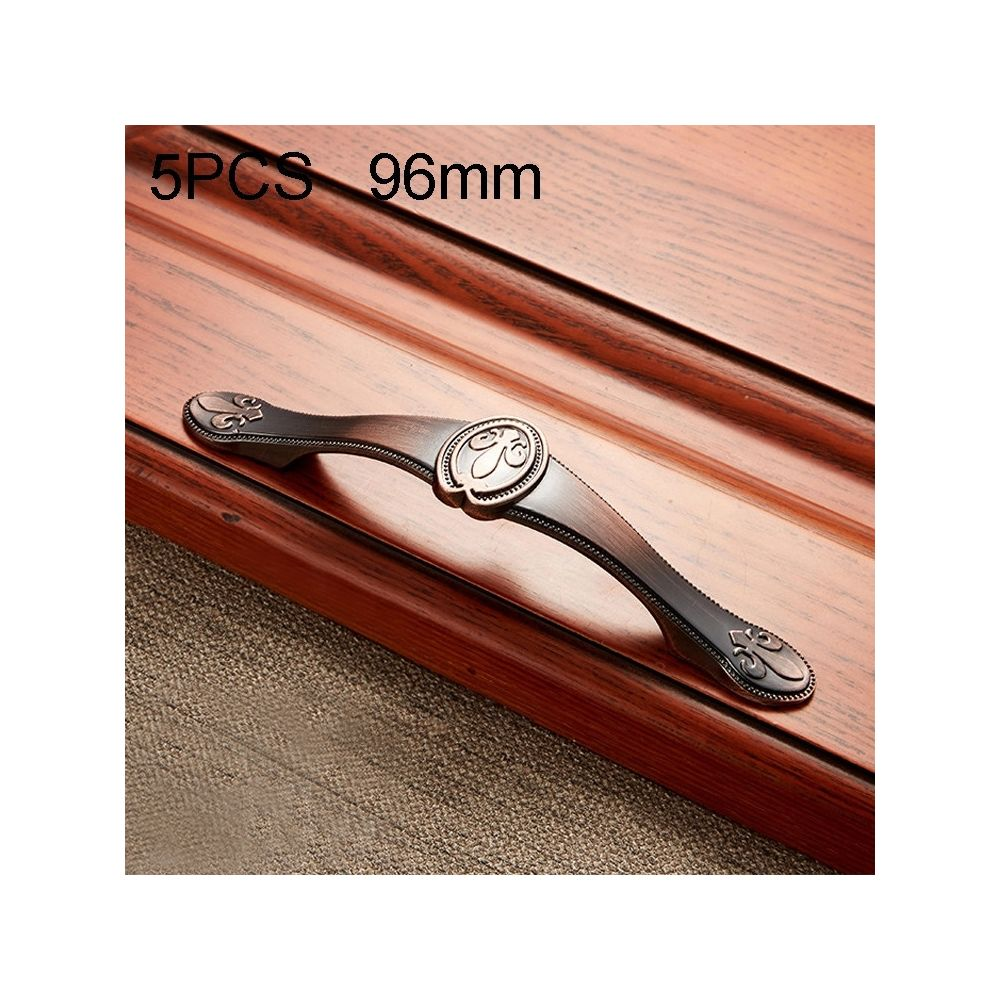 Wewoo Poignée d'armoire 5 PCS 6034-96 en bois massif avec poignées bronze rouge
