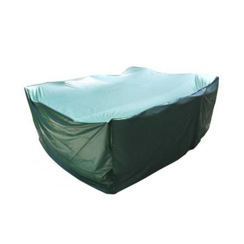 Brixo Housse de protection rectangle table et salon de jardin 270 x 180 x 90 cm PVC haute résistance fermeture élastique