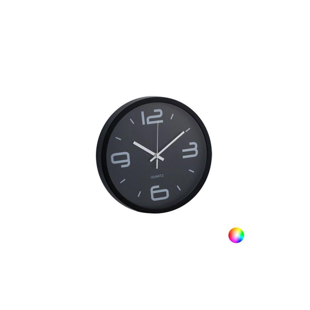 Totalcadeau Horloge Murale Analogique ronde - Horloge design Couleur - Rouge