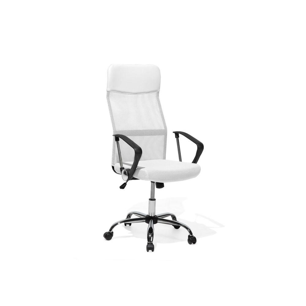 Beliani Beliani Chaise de bureau blanche classique DESIGN - blanc