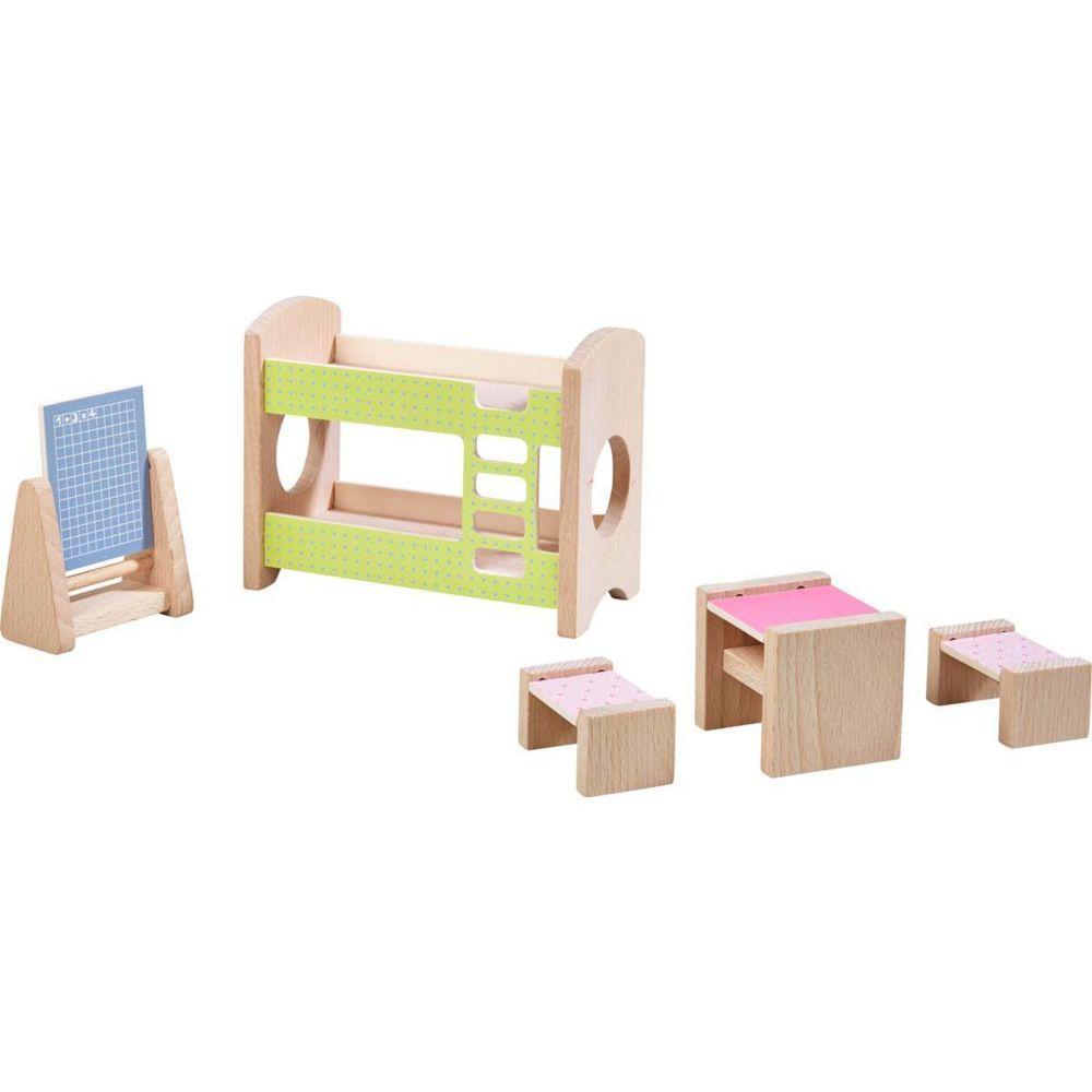 Haba Little Friends ? Meubles pour maison de poupées Chambre d'enfant pour deux enfants