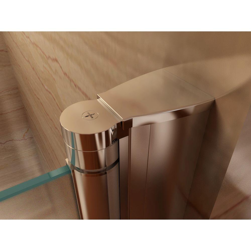 Cadentro Porte de douche hauteur 185 cm - largeur réglable / verre dépoli avec traitement nano anti-calcaire (96 à 100 cm, dépoli