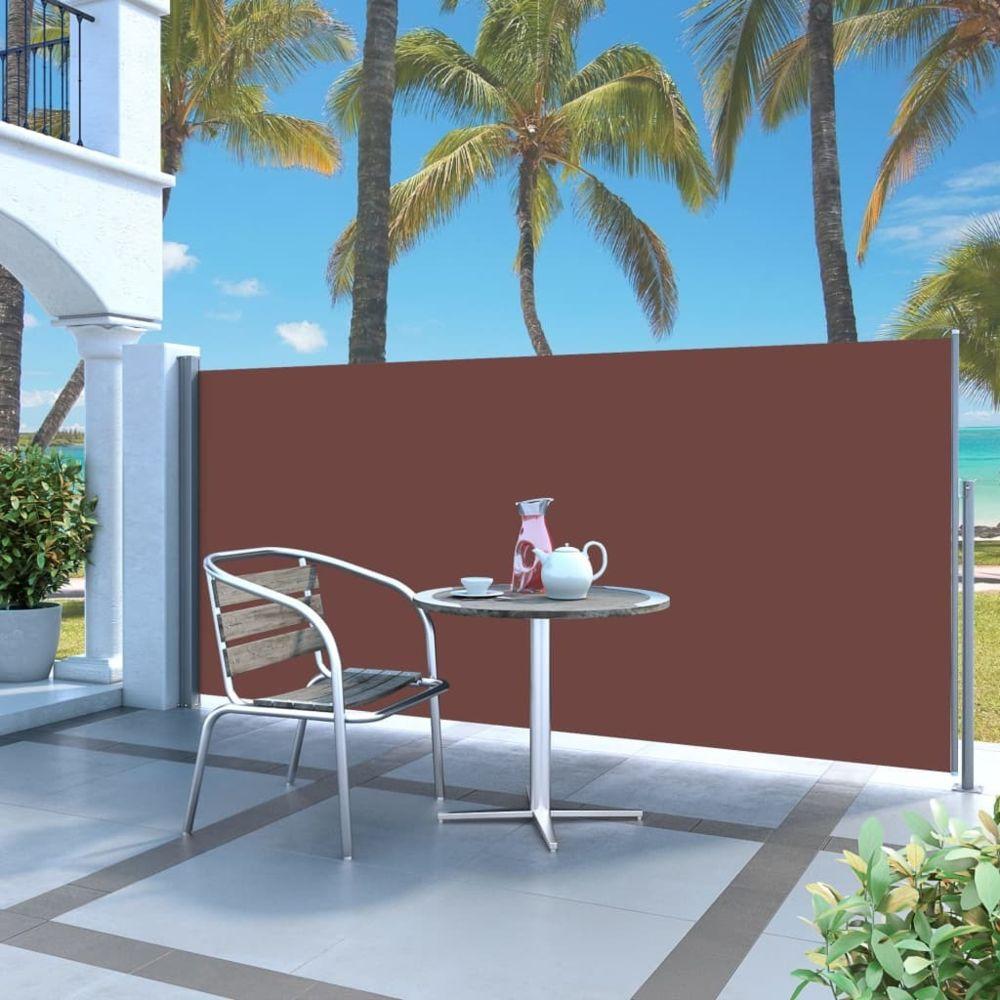 Vidaxl Auvent latéral rétractable 120 x 300 cm Marron | Brun - Pelouses et jardins - Vie en extérieur - Parasols et voiles d'om