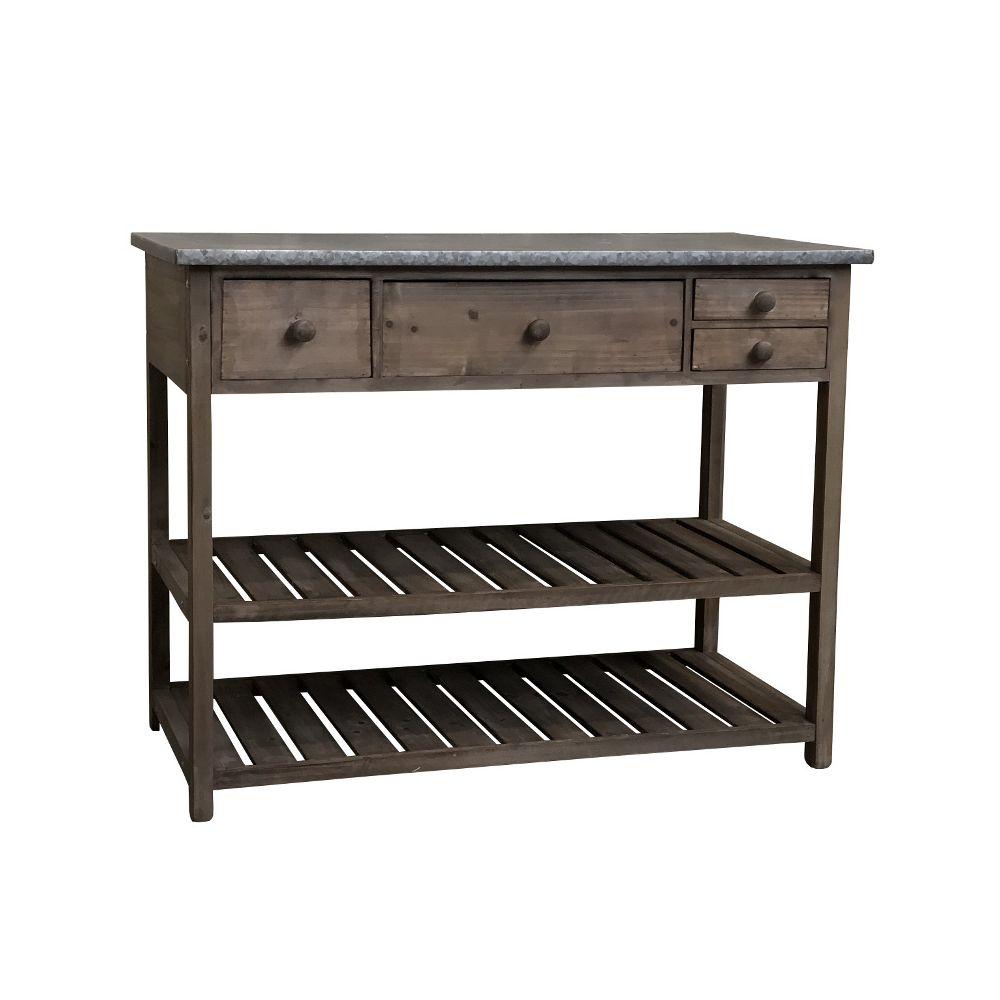L'Originale Deco Table de Rempotage Semi Jardinière de Jardin 102 cm