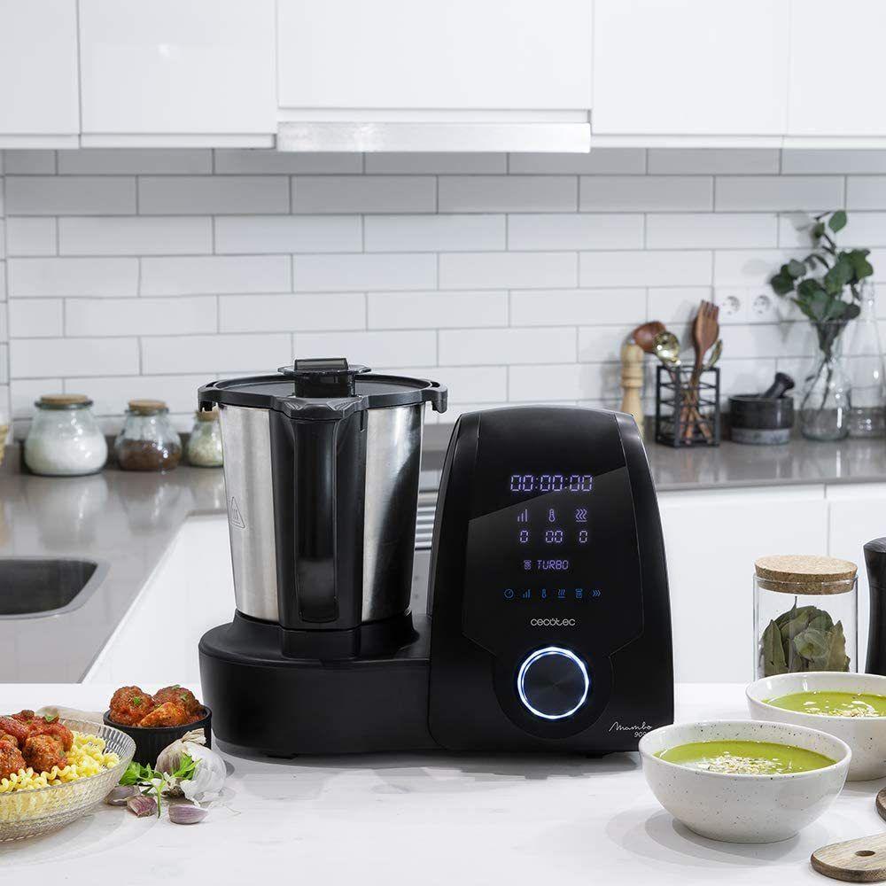 Cecotec robot de cuisine multifonctions de 3,3L avec 30 fonctions noir