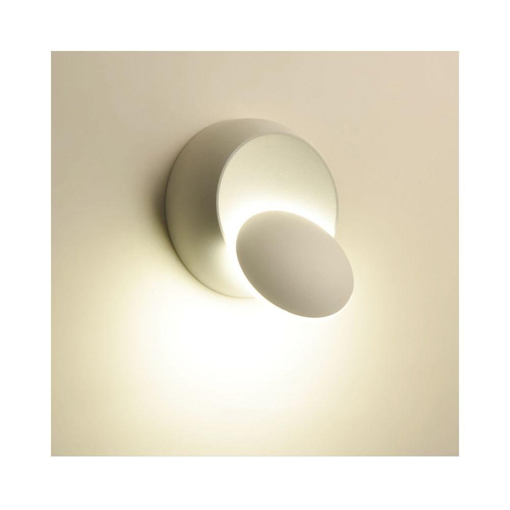 Wewoo Applique murale LED à orientable sur 360 degrés avec lampe de chevet blanche noire Créative moderne ronde moderne, tempé