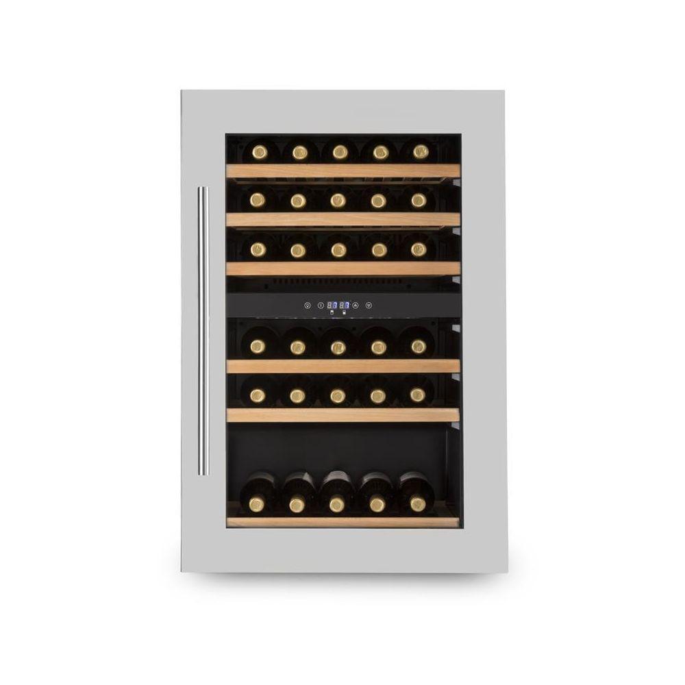 Klarstein Klarstein Vinsider 35D Cave à vin encastrable 128L 41 bouteilles porte inox Klarstein