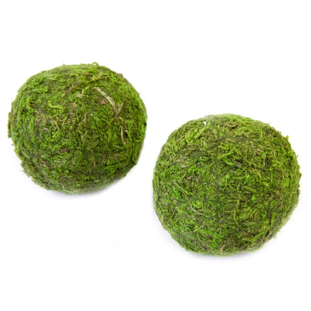 Visiodirect 10 Sets de 2 Boules de mousse naturelle vertes - Diam 7 cm