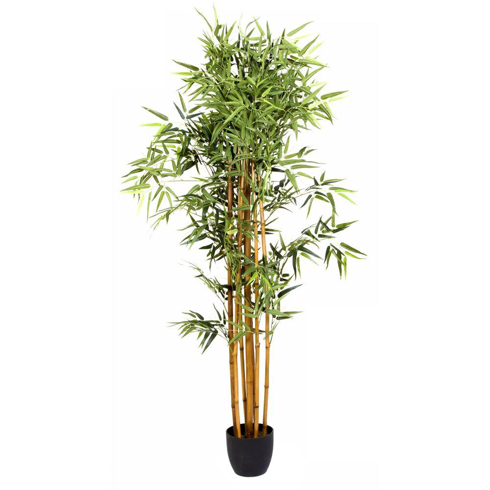 Pegane Plante artificielle Bambou Pot, Hauteur 180 cm