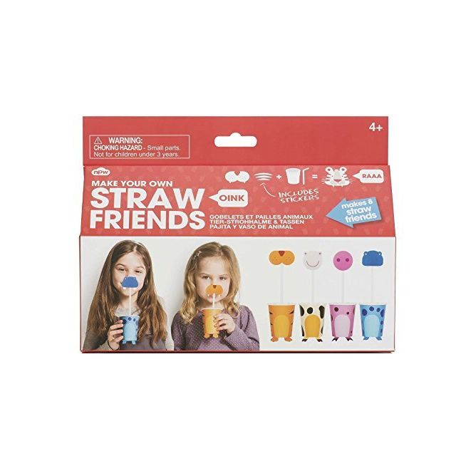 Npw - NPW Make Your Own Straw Animal Friends Kit Arts and Crafts Kit Npw   - Dessin et peinture Npw