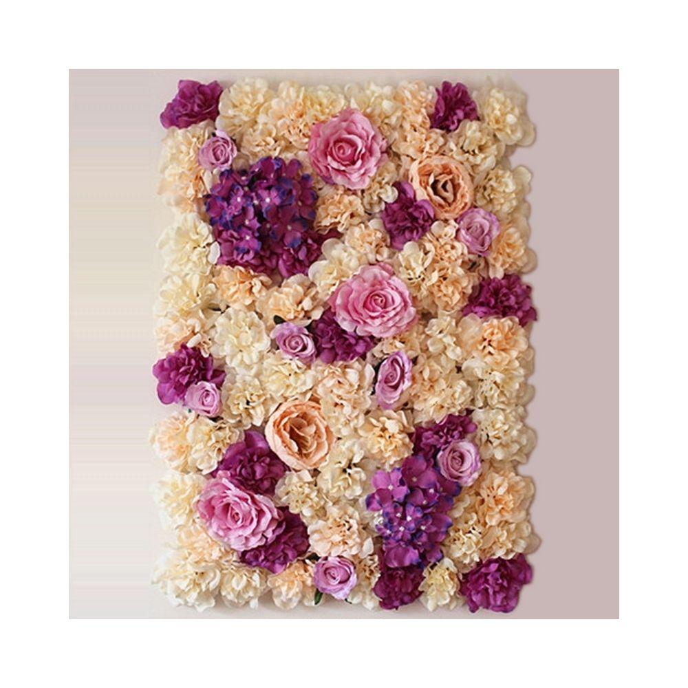 Wewoo Décoration Jardin champagne et rose Violet champagne fleur pivoine Hortensia artificielle cryptage bricolage mur de mari