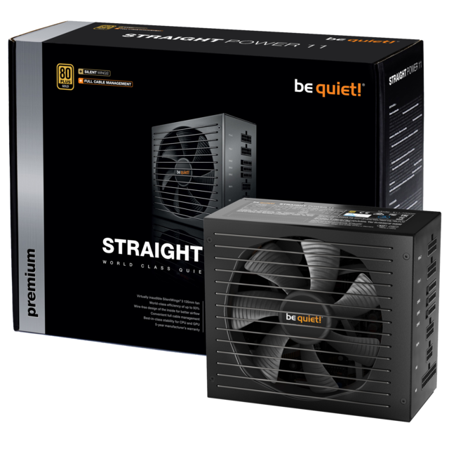 Be Quiet - STRAIGHT POWER 11 550W - 80 Plus Gold - Alimentation non modulaire