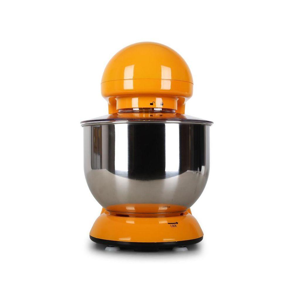 5,2 L Serrage rapide Orange Vitesse r/églable /à 6 niveaux Klarstein Bella Orangina max P/étrin M/élangeur Syst/ème de malaxation dagitation plan/étaire Robot de cuisine 1200 W