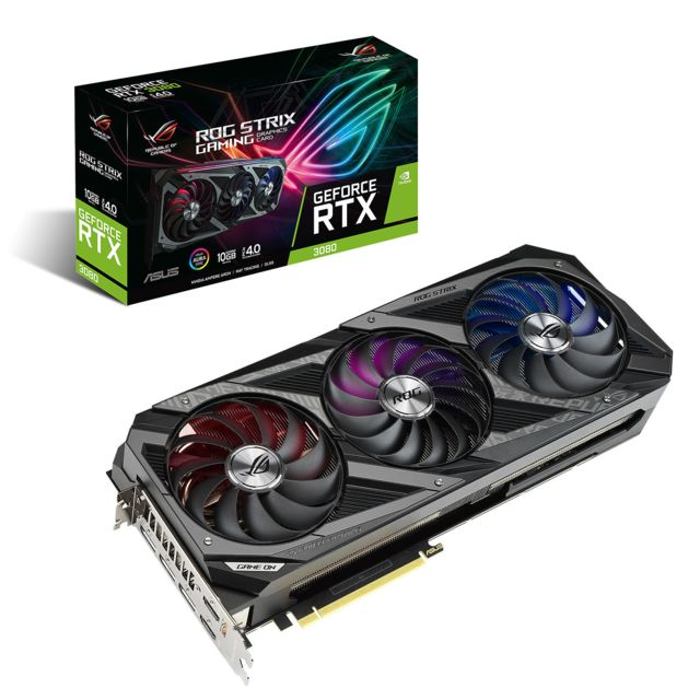 Asus - GeForce RTX 3080 ROG STRIX - Triple Fan - 10Go Asus   - Carte Graphique Rog strix