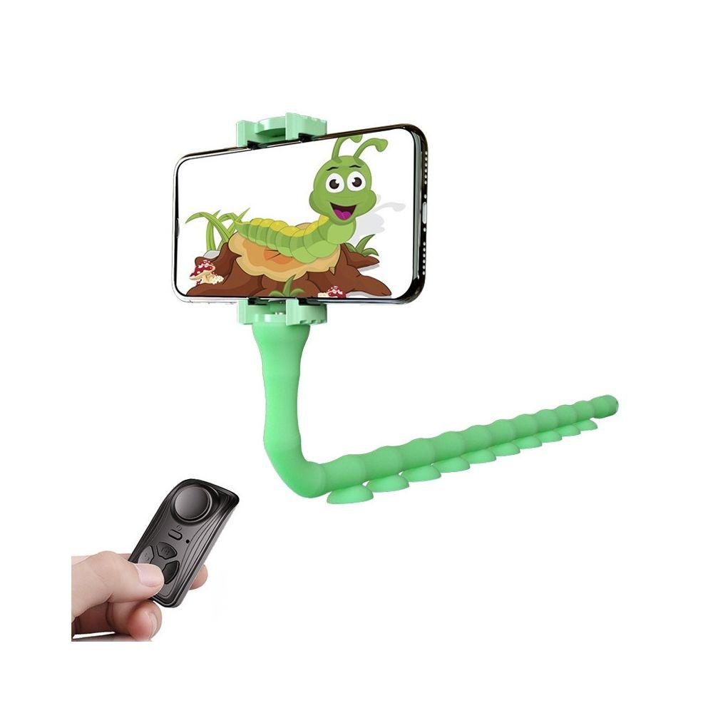 Wewoo RKL9 Creative Budding Lazy Phone Bracket Diffusion en direct Octopus Trépied Vert