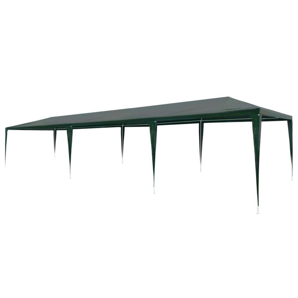 Vidaxl vidaXL Tente de Réception 3x9 m PE Vert Jardin Terrasse Patio Tonelle Pavillon